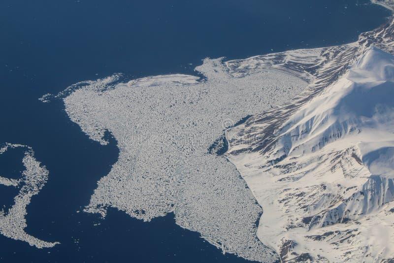 Smeltend polair ijs stock foto's