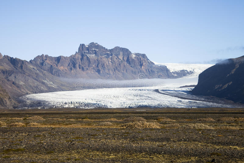 Smeltende gletsjer, het Nationale Park van Vatnajökull, IJsland stock afbeelding
