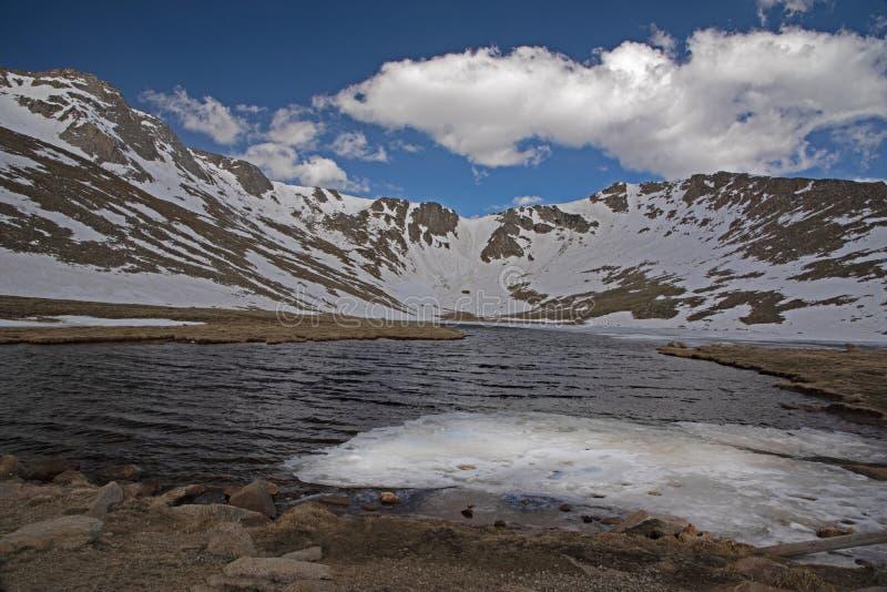 Smeltende ijsvallei op MT Evans, Colorado stock afbeeldingen