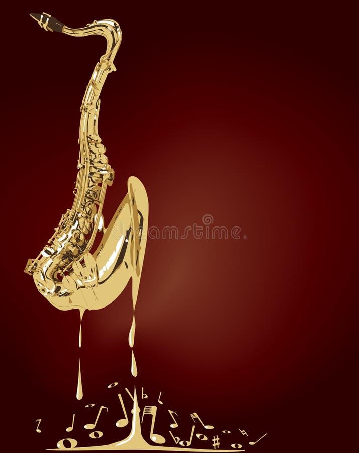 Smeltende Jazz Saxophone Music vector illustratie