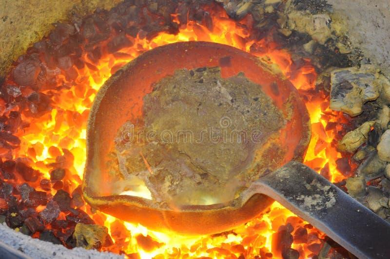 Smeltende pot stock foto's