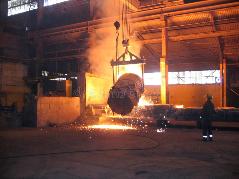 Smelting industry stock photography