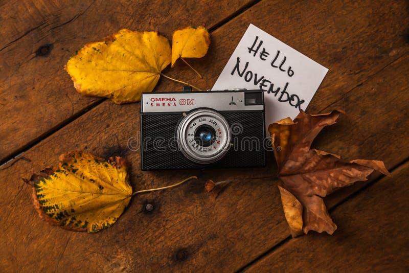 Smena 8m. STARA ZAGORA, BULGARIA - 20.10.2016: Camera Smena 8m on 20.10.2016, in Stara Zagora, Bulgaria. sMENA 8M - Soviet compact camera produced from 1970 to royalty free stock photography
