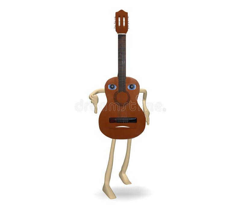 Smentita della chitarra illustrazione di stock