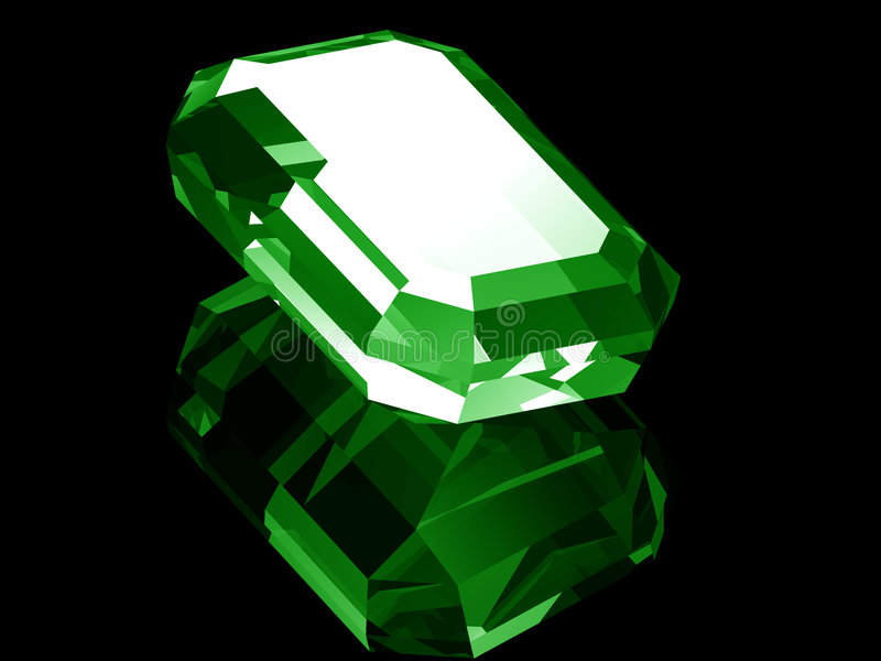 smeraldo 3d illustrazione vettoriale