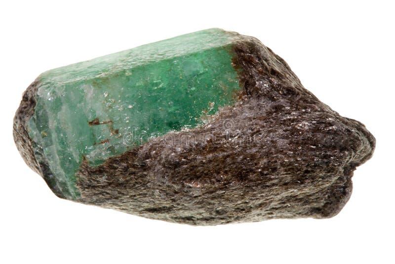 Smeraldo grezzo immagine stock