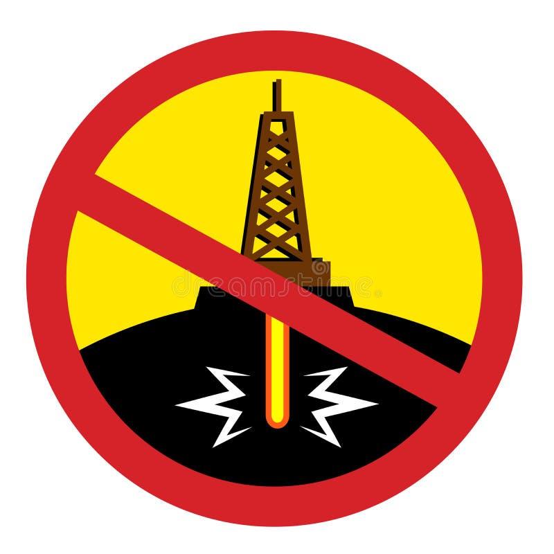 Smetta di fracking illustrazione di stock