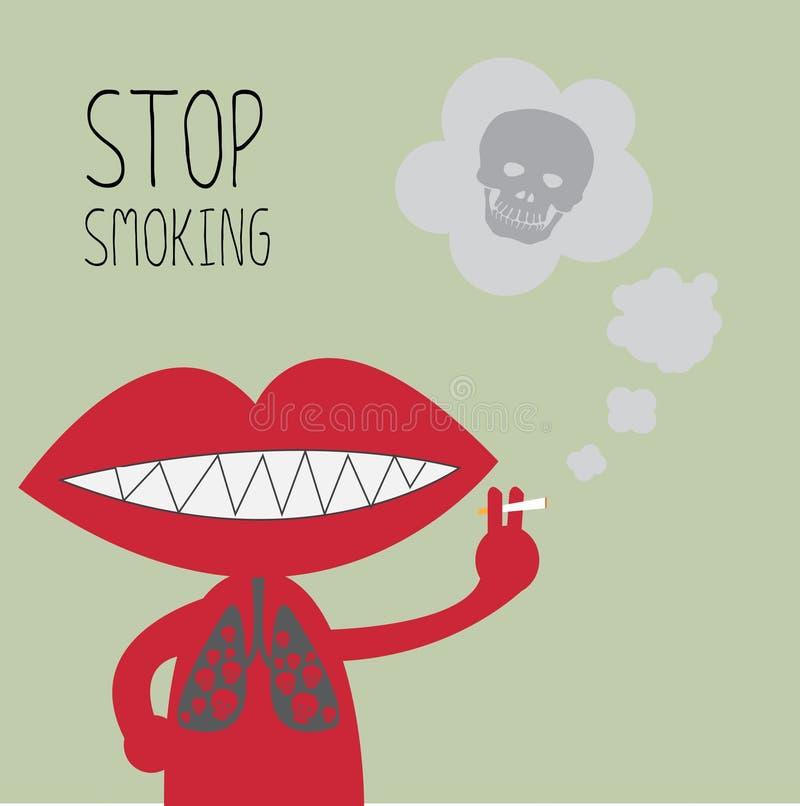 Smetta di fumare illustrazione vettoriale
