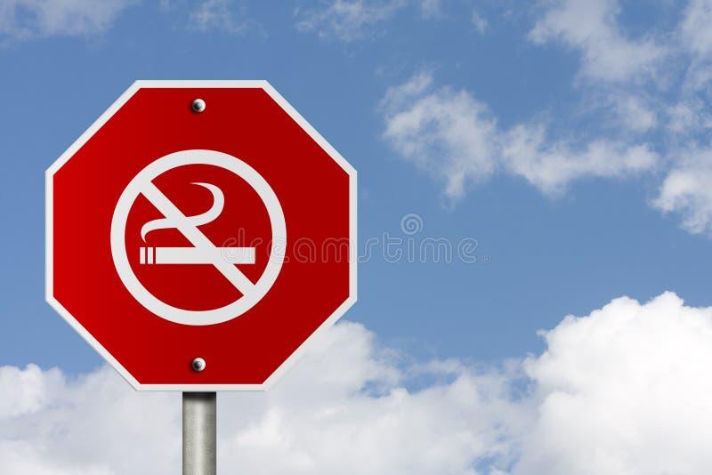 Smetta di fumare il segno fotografia stock