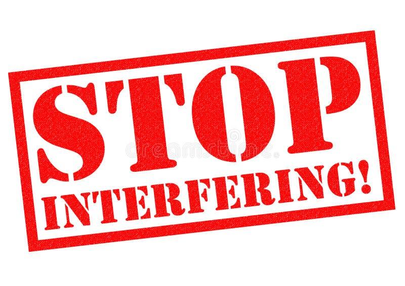 SMETTA DI INTERFERIRE! illustrazione vettoriale