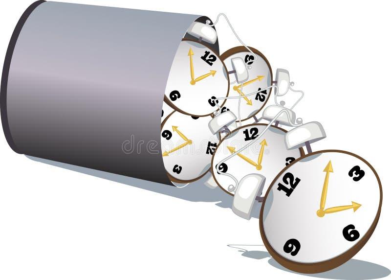 Smetta di sprecare il tempo illustrazione vettoriale