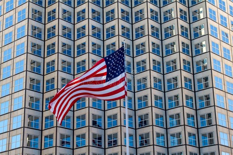 Smickra USA flaggan arkivbilder