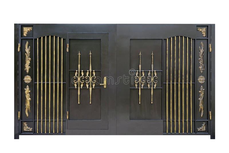 Smidesjärn stål, dekorativa portar arkivbilder