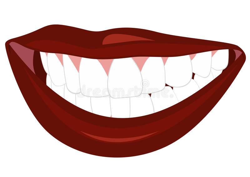 Download Smile stock vector. Image of image, white, gums, lips - 22984431