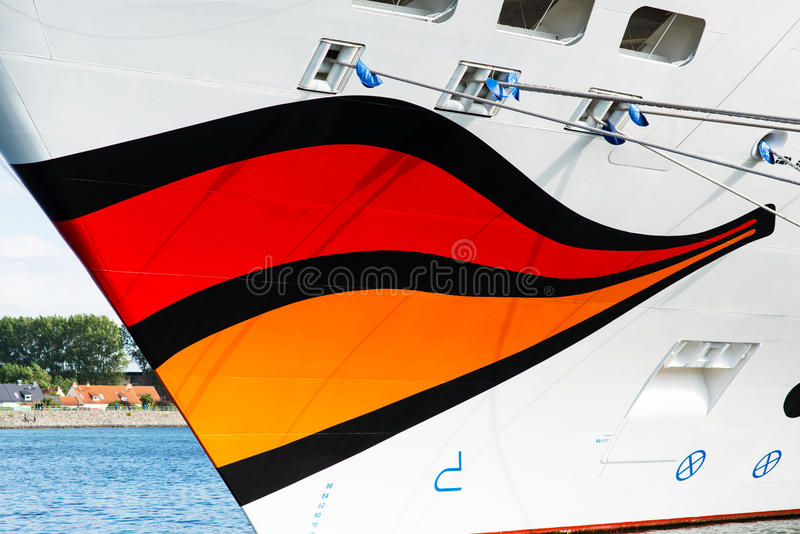 Smile of Aida Mar cruise ship. Image of the large and beautiful, luxury cruise ship Aida Mar. Its under the flag of Italy, Costa Crociere cruises. Image is taken stock image