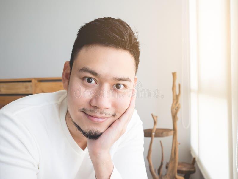 Smile Asian man. royalty free stock photo
