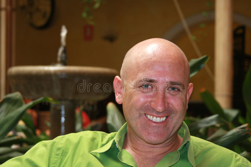 Download Smile of Bald Man stock image. Image of caucasian, healthy - 15823019