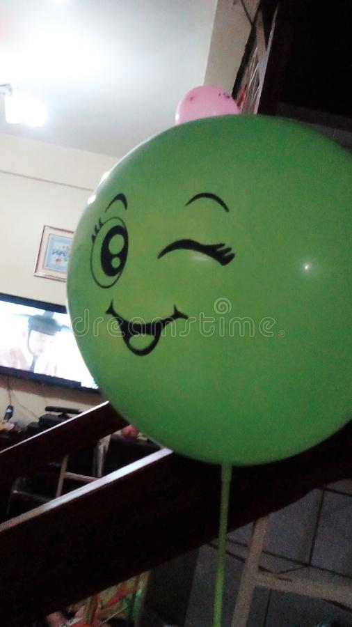 Smile balloon stock images