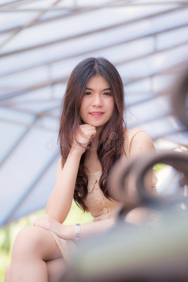 Smile Beautiful young woman royalty free stock photo