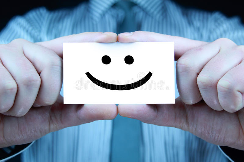 Smile - Business Card Stock Images