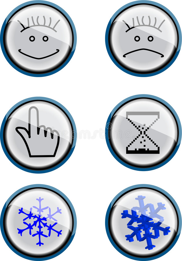 Download Smile buttons stock vector. Image of heads, sign, light - 6895709