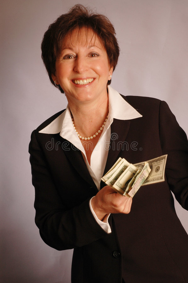 Download Smile with cash 2174 stock photo. Image of executive, model - 474318