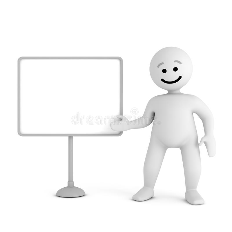 Download Smile Character Stay With Blank Board Stock Illustration - Image: 19938451