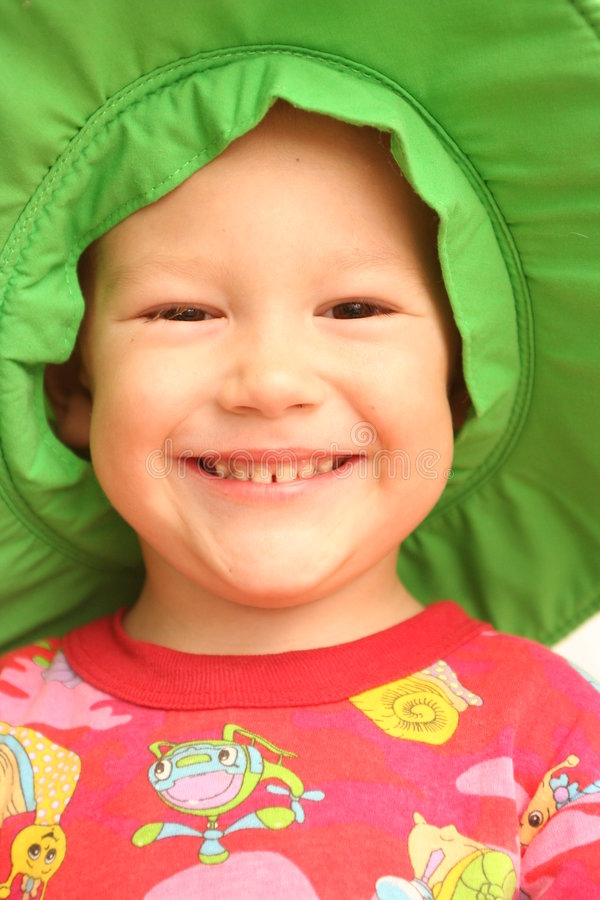 Smile of the child stock image