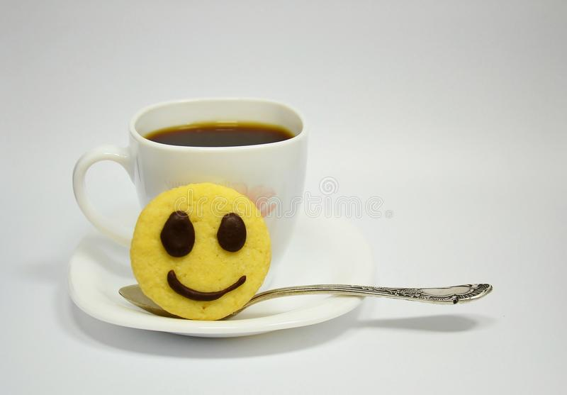 Smile coffee royalty free stock photography