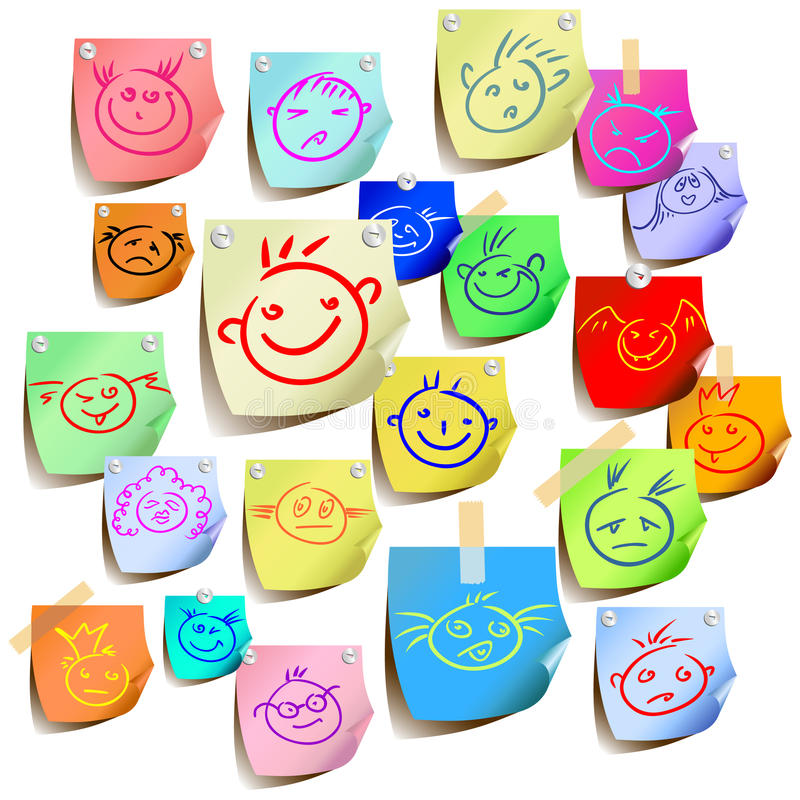 Smile colored. Funny smile colored, this illustration may be usefull as designer work