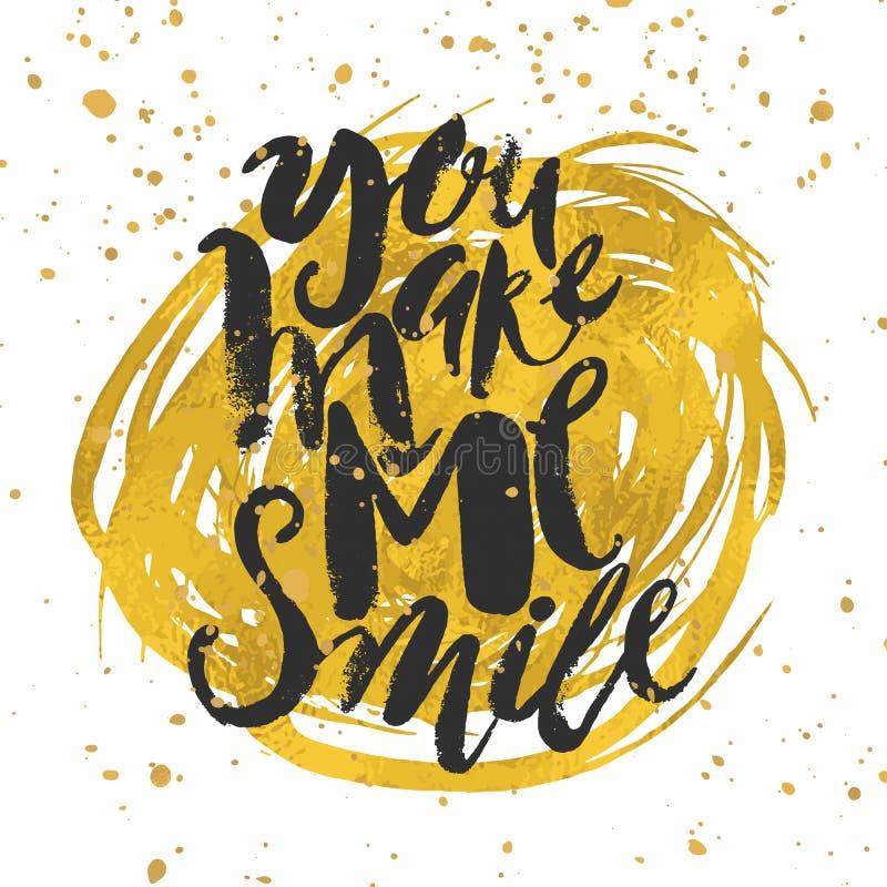 Smile concept inspirational phrase.Smiles are always in fashion. stock illustration
