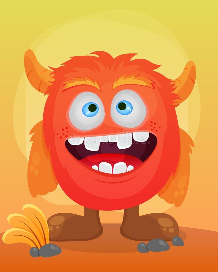 Smile Cute Monster Illustration. Hallo Smile Cute Monster Illustration vector illustration