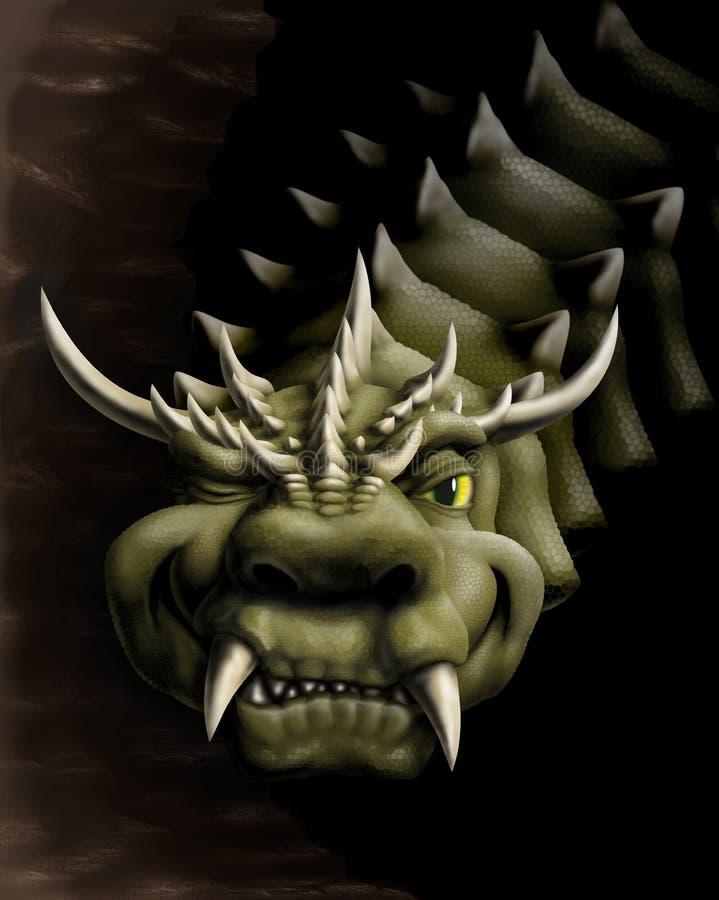 Smile dragon stock photo