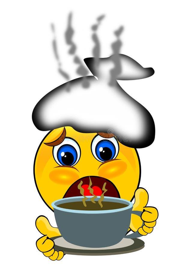 smile emoticons having cough and flu stock illustration rh dreamstime com Freezing Smiley Face Clip Art Silly Smiley Face Clip Art