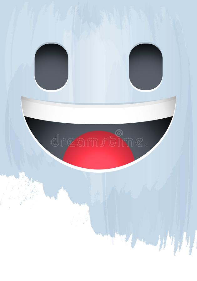 Smile Emotion Face on Paint background vector illustration. Eps available stock illustration