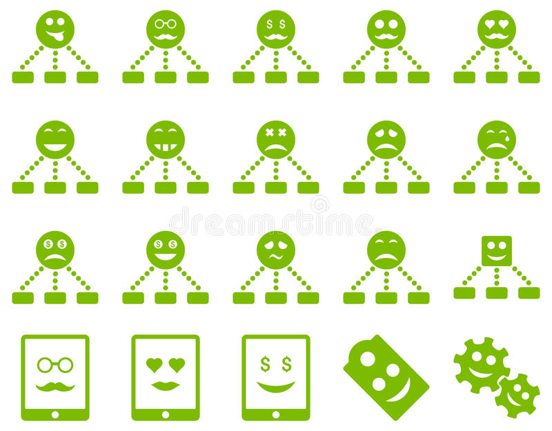 Smile Emotion Relations And Tablet Icons Stock Illustration