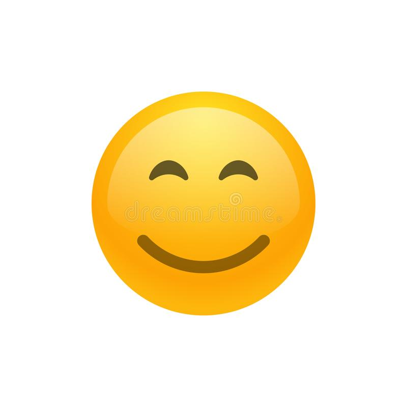 Smile face emoji vector icon. Vector illustration royalty free illustration