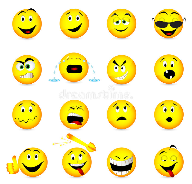 Smile face icons. Illustration of smile face icons stock illustration