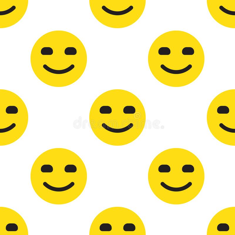 Smile Face Seamless Pattern stock illustration