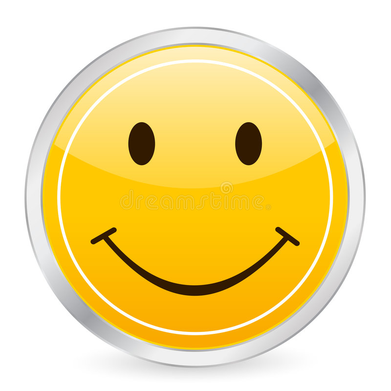 Smile face yellow circle icon vector illustration