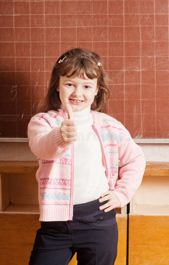 Download Smile girl in classroom stock photo. Image of child, learn - 23393240