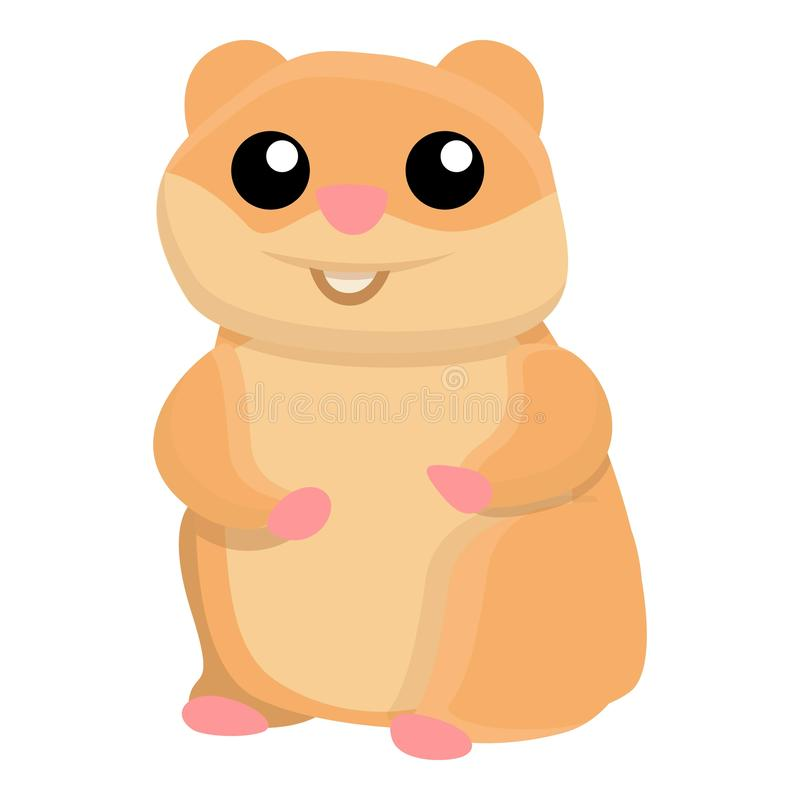 Smile hamster icon, cartoon style. Smile hamster icon. Cartoon of smile hamster vector icon for web design isolated on white background vector illustration