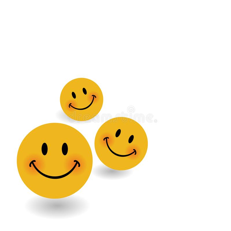 Smile icon background template. Smiley faces design elements. Vector illustration. Happiness concept royalty free illustration