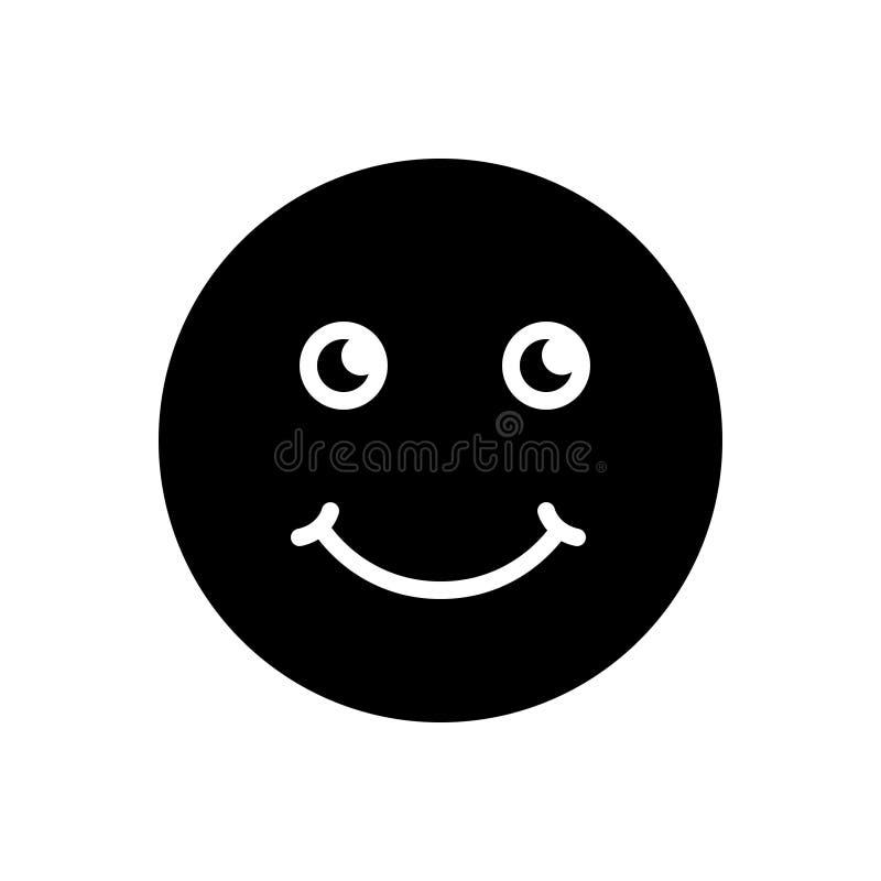 Black solid icon for Smile, jest and emotion. Black solid icon for Smile, grin, deride, logo,  jest and emotion stock illustration