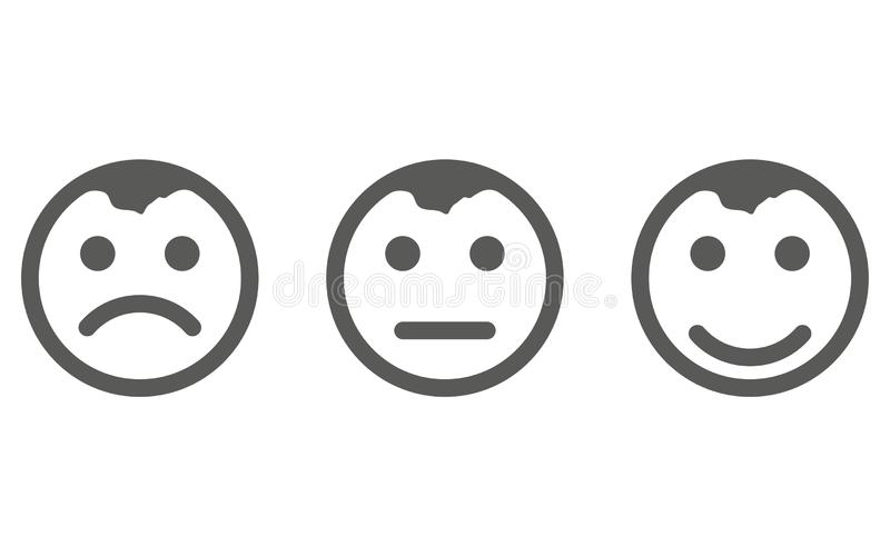 Smile Icon vector eps10. Smiley face sign. Emoji face smiley icon line symbol. Isolated vector illustration of happy sign stock illustration