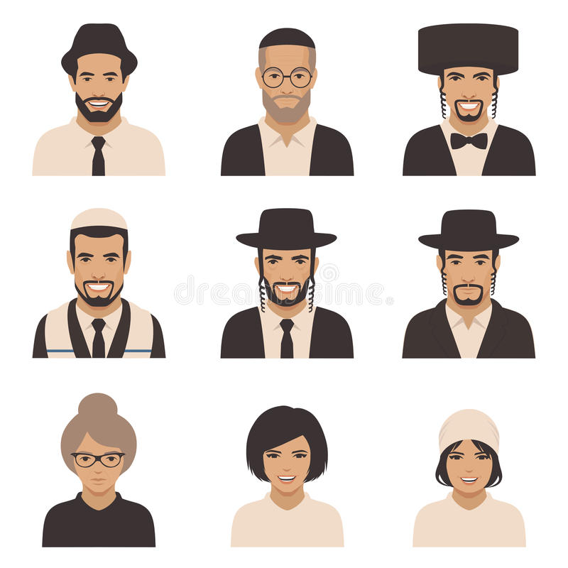 Smile jewish people stock illustration