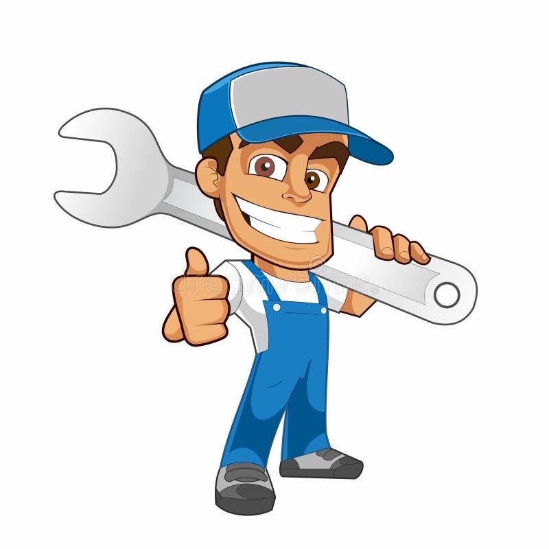 Mascot Smile mechanic car vector illustration
