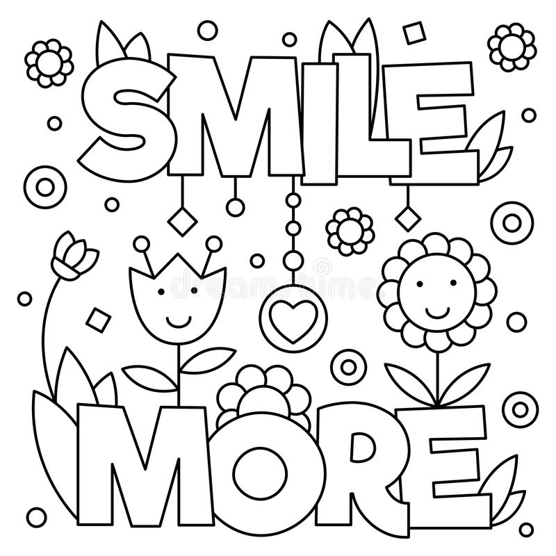 Download smile more coloring page vector illustration stock vector illustration of vector