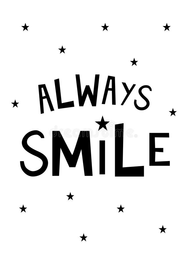Always Smile Original Nursery Wall Art. Nursery Printable, Always Smile, Smiling, Children Wall Art, Home Decor, Kids Poster, Original Design, Hand crafted vector illustration