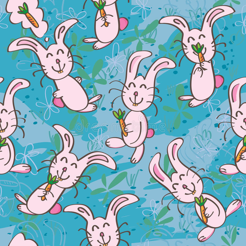 Download Smile Rabbit Cute Seamless Pattern_eps Stock Vector - Image: 28167813